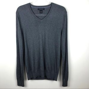 Banana Republic Grey Luxury Blend V-Neck Sweater M
